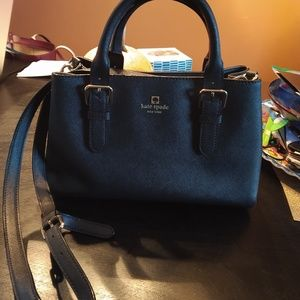 Small black satchel Kate Spade